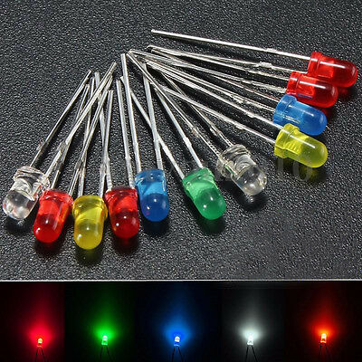 80 Pcs 5mm LED Emitting Diode Multi Color Electronic Lamp Kit Brand New