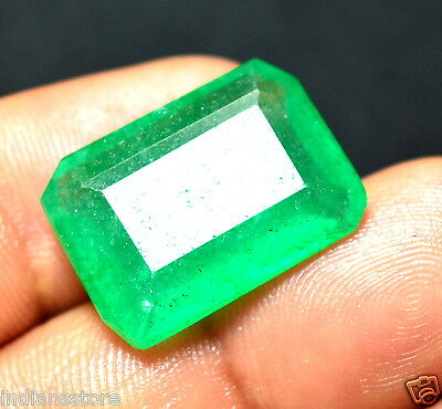 Certified 16.60 Ct Emerald Shape Colombian Fabulous Quality Natural Gemstone***