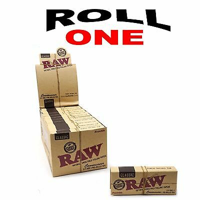 Raw Classic Hemp 1 1/4 Rolling Papers + Filter Tips Natural Hemp Gum 24 Packs