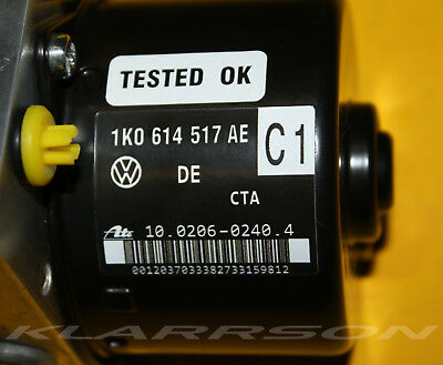 VW ABS Modul ATE 1K0614517AE 1K0614517AEBEF 10.0206-0240.4 TESTED-100 % OK