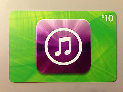 New Authentic US $10 Apple iTunes Gift Card Worldwide