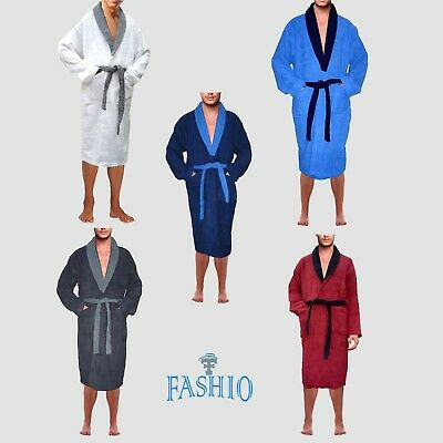Skylinewears Men's 100% Terry Cotton Bathrobe Toweling Dressing Gown Robe