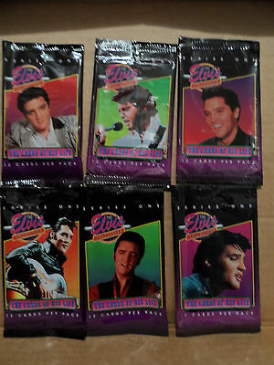 Elvis Presley - Lot of 6 Trading Cards Pack Wrappers Only VG condition No Cards