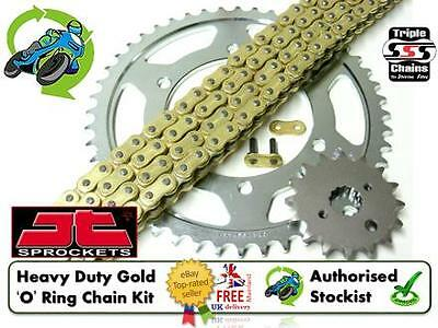 New Heavy Duty O Ring 530 Gold Chain & Sprocket Kit Suzuki Gsf1200S Bandit 05