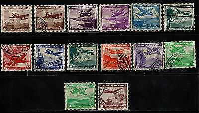 1950 Chile Air Stamp(F.used &lmm)S.g.395-404