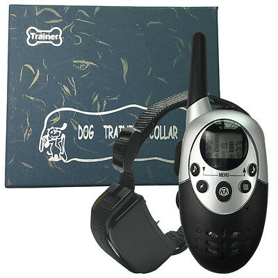2017 New 1000M LCD Electric Shock Pet Dog Training Remote E-Collar Rechargeable