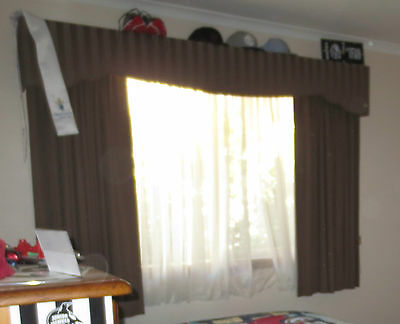 3 Sets of Warwick Block out Curtain, palmets