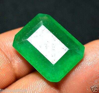 Natural 18.95 Ct.Emerald Shape Green Loose Colombian Emerald Gemstone For~Ring