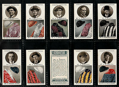 "Ogdens 1927 Scarce (Horse Racing) 50 Card Set "" Steeplechase Trainers & Colours"