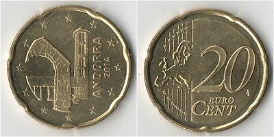 Andorra 20 Cents Euro 2014 Unc Get Yours Today Before Theyre Gone