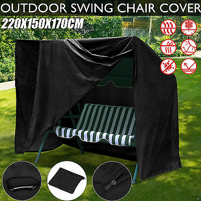 3 Seat Swing Chair Cover Outdoor Seater Patio Garden Weather Protection