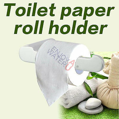 Silver Toilet Paper Roll Holder Wall Mount Stainless Steel 304 Bathroom Hook NEW