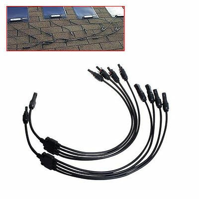 new Portable New Y MC4 Solar Style Branch Panel Cable Connector Type 1 to 4