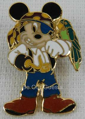 Disney Parks Pirates of the Caribbean Mickey Mouse Parrot on Shoulder New 2004 B