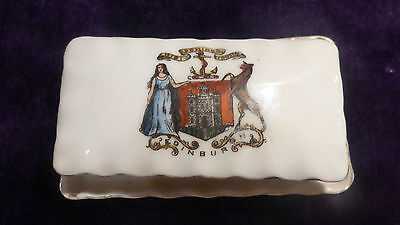 Gemma crested china Lidded Box of Edinburgh 8.5cm