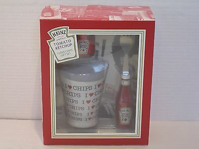 Heinz Ketchup I Love Chips Gift Set BBE 26/05/17 Brand New In Box