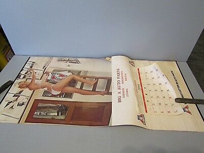 Vintage 1985 Big A Auto Parts Pin Up Advertising Calendar All American Girl