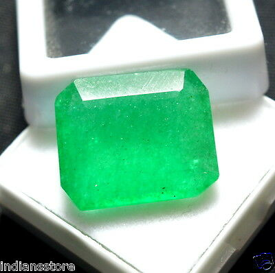 Natural 14.15 Ct.Emerald Shape Colombian Emerald Gemstone For~Ring Size