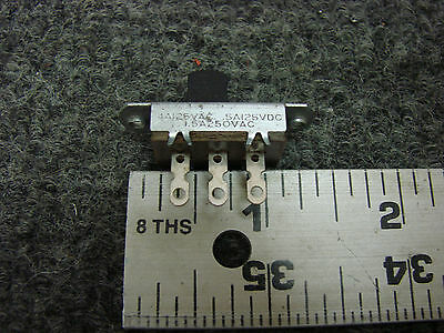 New 2 Pcs. Slide Switch  Signal Row 3 Pins 2 Position Spdt Panel Mount