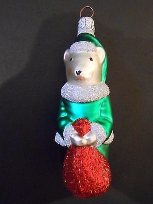 Patricia Breen Christmas Ornament Festive Mouse Red Green White 9611A 1997