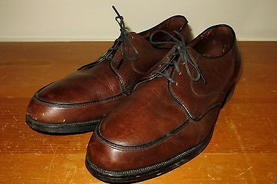 Vintage 60s Hy-Test Mens 7.5 E Brown Leather Steel Toe Work Dress Shoes Boots