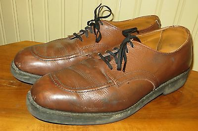 Vintage 70s Red Wing USA Mens 9.5 D Brown Leather Work Workwear Shoes Boots