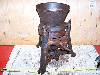 Old CAST IRON Hand Cranked Lead Pigment Grinder Paint Store Hit Miss Engine NICE