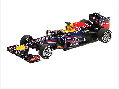 Minichamps 410130101 1/43 RedBull 2013 RB9 Vettel German GP Winner F1 model