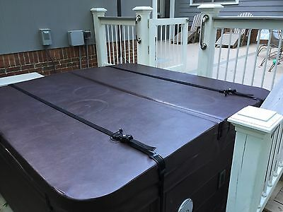 Hot Tub Spa Cover Wind/Security locking straps black Assembly