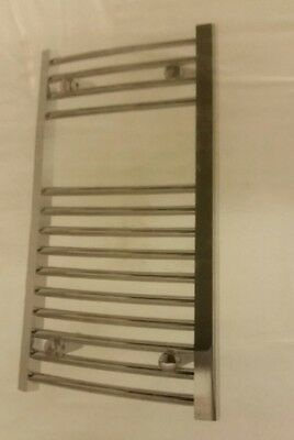 Kudox Curved Heated Radiator Chrome Towel Rail (H)700mm (W)400mm