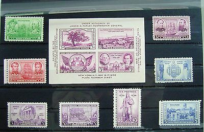 Collection of Unmounted Mint stamps from USA circa 1936