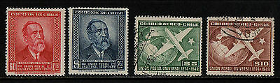 1950 Chile Post & Air Upu Stamp(Mnh & F.used) S.g.391-394