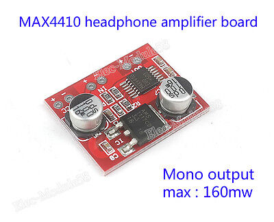 DC 3V-12V MAX4410 160mW Headphone Amplifier Board BTL Mono Power Amp Module