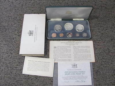 1972 Tenth Anniversary Trinidad & Tobago Minted Franklin Mint Coin Set Silver