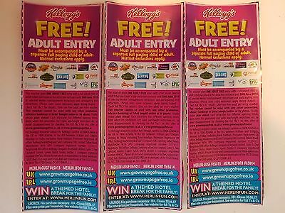 3 x 2 for 1 Voucher Ticket for Legoland Alton Towers Madame Tussauds Valid 2018