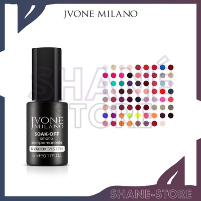 JVONE MILANO SMALTO GEL UNGHIE SEMIPERMANENTE SOAK-OFF UV e LED - 5 ML