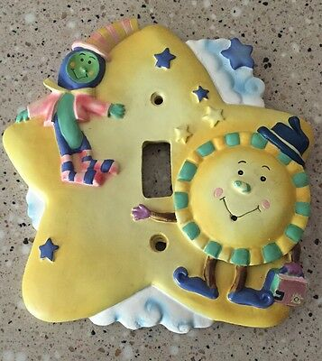Kidsline Over The Moon Switchplate Cover Resin Nursery Rhymes