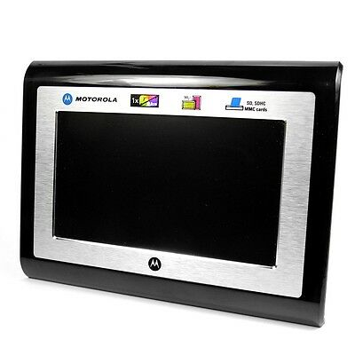 """Motorola LS700 7"""" Digital Photo Frame Boxed with Power Supply, Stand & Manual"""