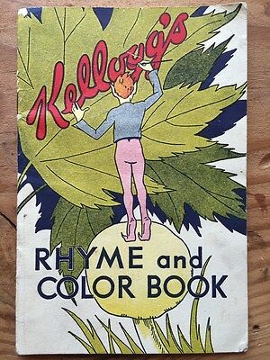 Kelloggs Vintage 1932 Rhyme and Color Book Advertising