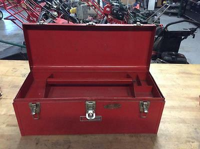 Vintage Craftsman Tool Box With Tray 24x10x10