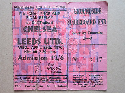 FA Cup Final Replay Chelsea V Leeds Utd April 29th 1970 Old Trafford Ticket Stub