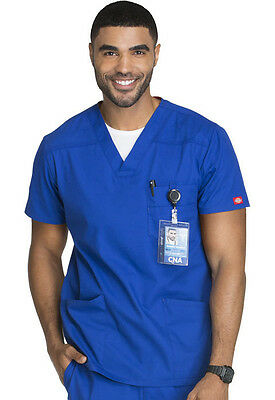 Dickies Scrubs EDS Men's Scrub Top 81906 Galaxy Blue GBWZ Free Shipping