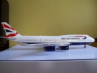 """Boeing 747-400 British Airways """"Gold nose"""" a 1/200 scale metal model from IF200"""