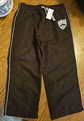 NWT The Children's Place boys black lined pants size 5/6 Husky
