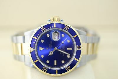 Original Rolex 16613 40MM 18K/SS Oyster Perpetual Submariner Date Blue Dial