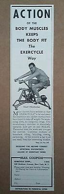 1941 Exercycle Exercise Machine Ad