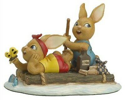 PenDelfin Rabbit Collectors Limited Edition Figurine - The Raft # 444