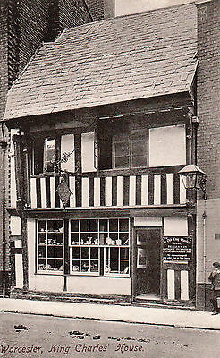 OLD FRITH POSTCARD CIRCA 1920's - WORCESTER - KING CHARLES HOUSE