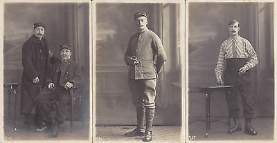 Lot De 3 Carte Photo -Prisonniers En Allemagne - Ww1. 14.18