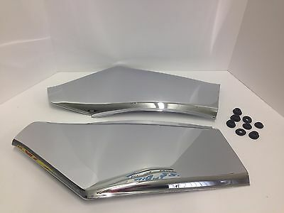 Rear Side covers pair chrome panels GL1500 GL 1500 Goldwing Honda motorcycle